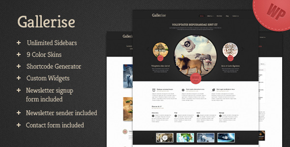 Gallerise - Unique Layout WordPress Theme - ThemeForest Item for Sale