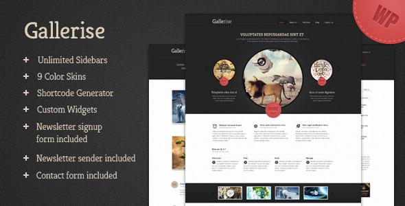 Gallerise - Unique Layout WordPress Theme - ThemeForest Item for Sale