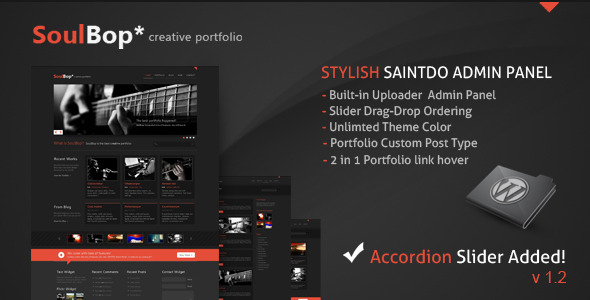 soulBop, creative portfolio - ThemeForest Item for Sale