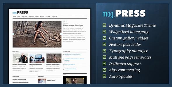 mag.Press - WordPress Magazine Theme - ThemeForest Item for Sale