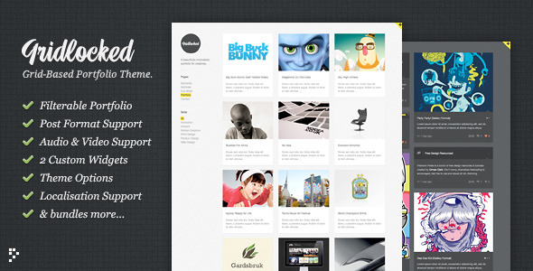 Gridlocked: Minimalistic WordPress Portfolio Theme - ThemeForest Item for Sale