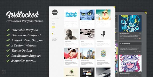 Gridlocked: Minimalistic WordPress Portfolio Theme - ThemeForest Item for Sale