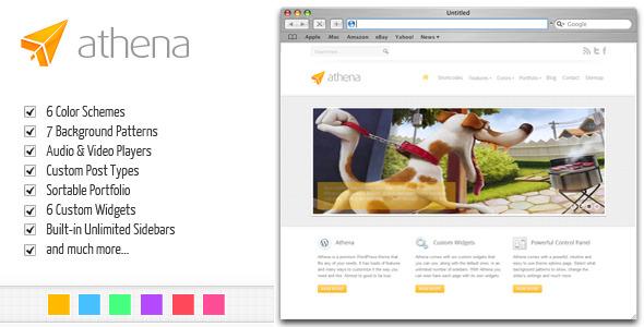 Athena: Premium Business/Portfolio WordPress Theme - ThemeForest Item for Sale