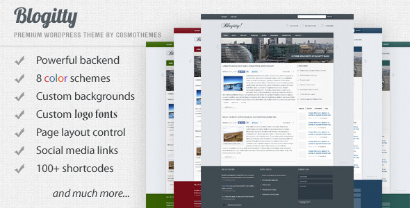 Blogitty - Premium Magazine/Blog/Business Theme - ThemeForest Item for Sale