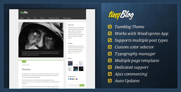 tinyBlog - WordPress Tumblog Theme - ThemeForest Item for Sale