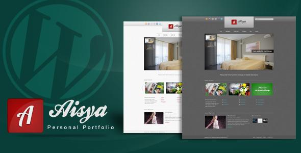 Aisya - Personal Portfolio WP Theme - ThemeForest Item for Sale