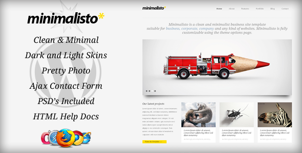 Minimalisto - Premium WordPress Theme - ThemeForest Item for Sale