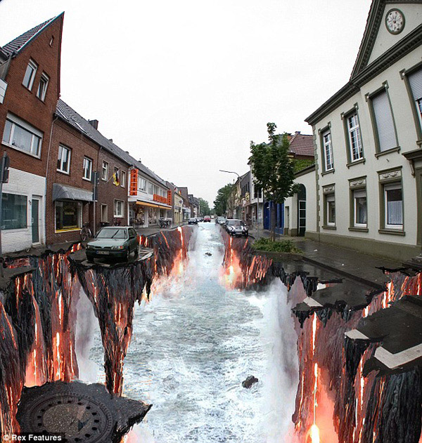 Amazing 3D Street Art Optical Illusions
