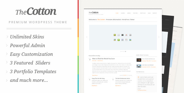 The Cotton - Powerful Minimalistic WordPress Theme - ThemeForest Item for Sale