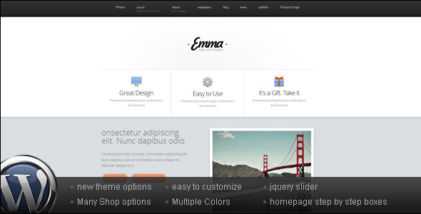 Business and Portfolio WordPress Theme - Emma - ThemeForest Item for Sale