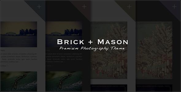 Brick + Mason: Premium Photography and Blog Theme - ThemeForest Item for Sale