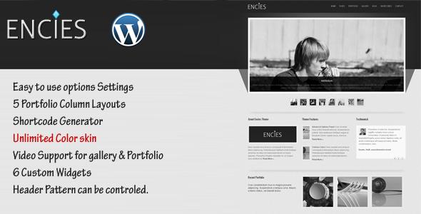 ENCIES - Business - Portfolio WordPress Theme - ThemeForest Item for Sale