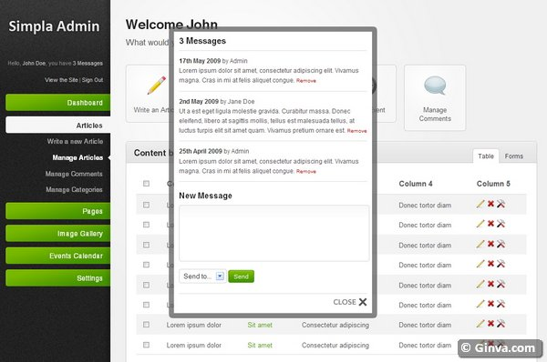 admin website templates 15
