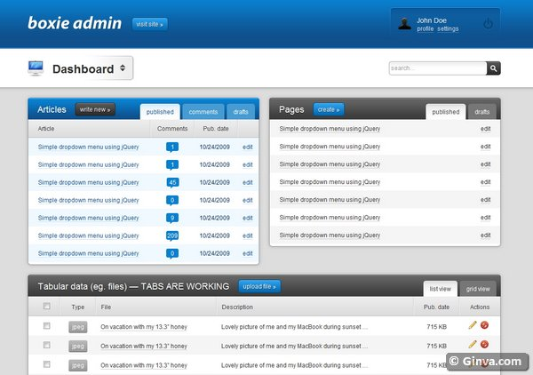 admin website templates 26