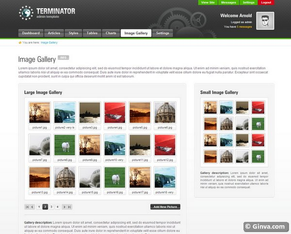 admin website templates 27