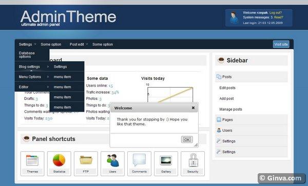 40 Free and Premium Admin HTML/CSS Website Templates | Ginva Admin Template Html Css Free on about me templates free, cms templates free, money templates free, xhtml templates free, health templates free, html5 templates free,