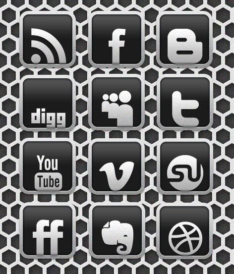 Free Icon: Carbon Chrome Social Media Icons Set