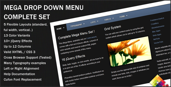 Mega Menu Designs