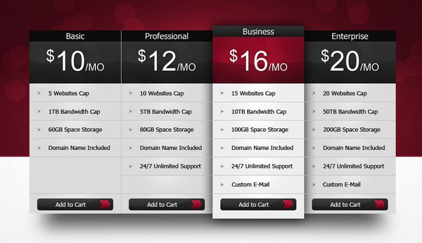 Download 30  Free Pricing Table Templates Design  Css3