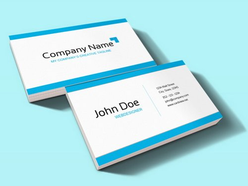 44 free clean and simple white business card template in psd ginva clean corporate business card colourmoves Images