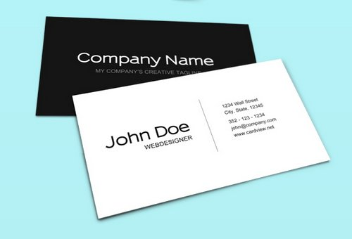 44 Free Clean and Simple White Business Card Template in PSD | Ginva