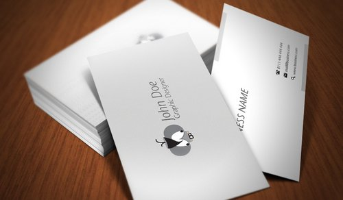 Business Cards Clean And Simple White Business Cards - White business card template