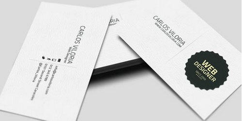44 free clean and simple white business card template in psd ginva 6 retro badge flashek