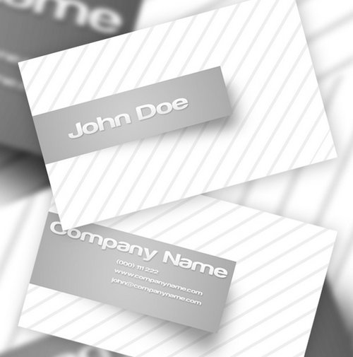 Free Clean And Simple White Business Card Template In PSD Ginva - Business card templates psd free download