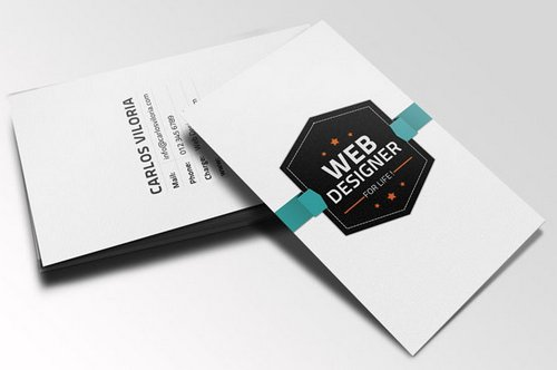 44 free clean and simple white business card template in psd ginva free download retro business card psd flashek Gallery