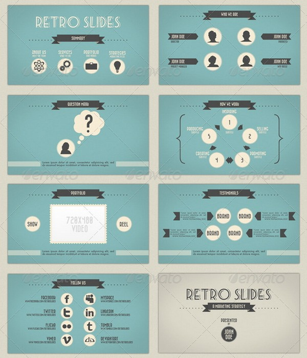 beautiful retro and vintage powerpoint presentation templates | ginva, Modern powerpoint