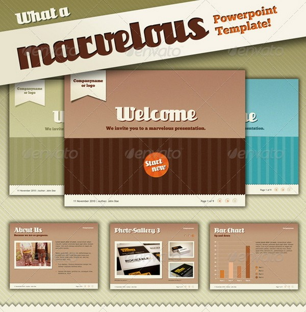 Beautiful retro and vintage powerpoint presentation templates ginva 3 marvelous a marvelous retro powerpoint template toneelgroepblik Gallery