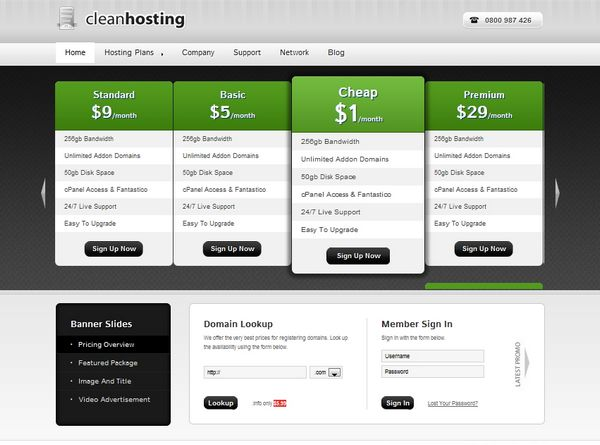 30 Best Web Hosting Website Templates {Html/Css And Wordpress} | Ginva