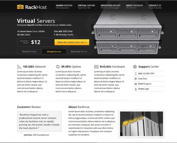 30 Best Web Hosting Website Templates {HTML/CSS and WordPress} | Ginva: ginva.com/2012/06/30-best-web-hosting-website-templates-htmlcss-and...