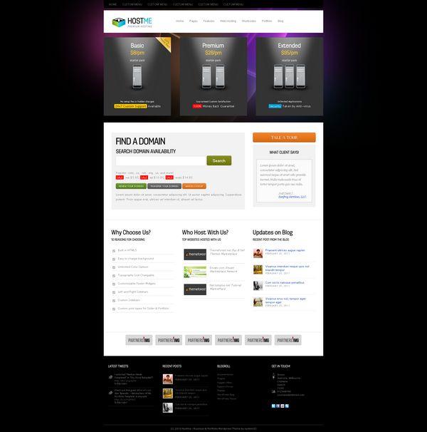 30 Best Web Hosting Website Templates {HTML/CSS and WordPress} | Ginva