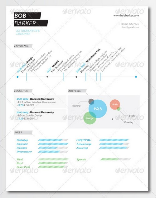 modern resume template - Contemporary Resume Templates Free
