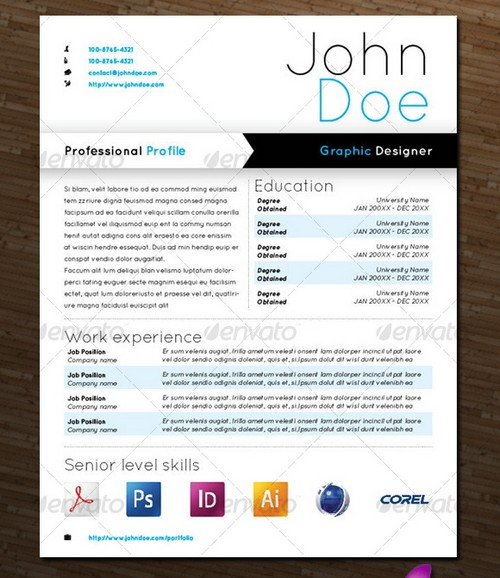 25 modern and professional resume templates ginva - Contemporary Resume Templates