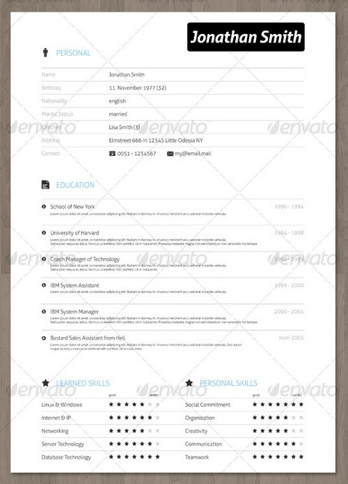 Professional Resume Templates » 25 Modern And Professional Resume