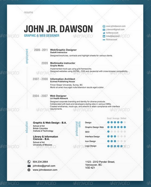 Modern Resume Sample | Sample Resume And Free Resume Templates