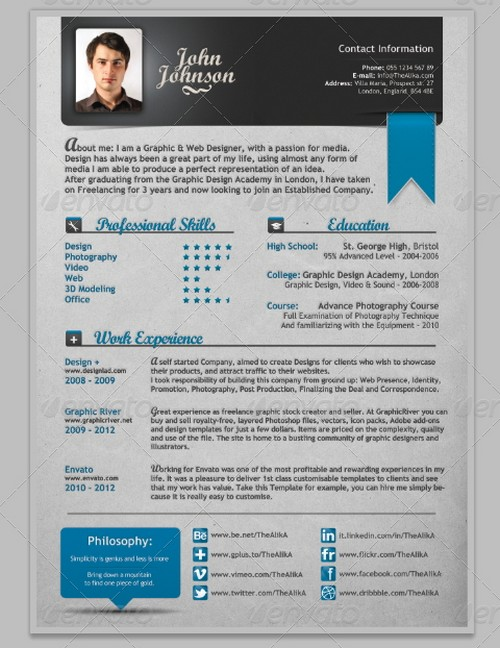 25 modern and professional resume templates ginva - Modern Resume Samples