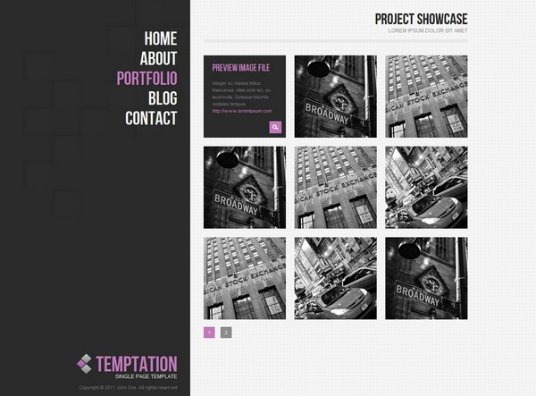 24 free and premium portfolio website templates ginva for Free html portfolio templates