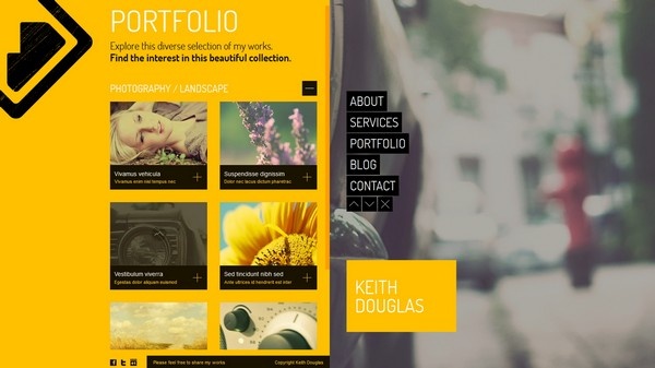 portfolio website templates 23