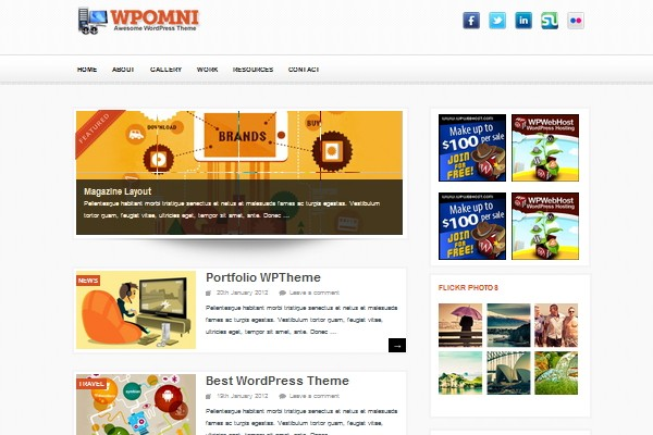 18 free magazine wordpress theme 2012