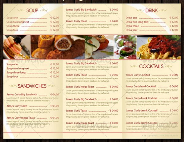 30 food menus templates for cafe and restaurants 10