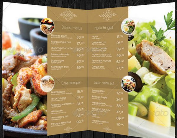 30 food menus templates for cafe and restaurants 11