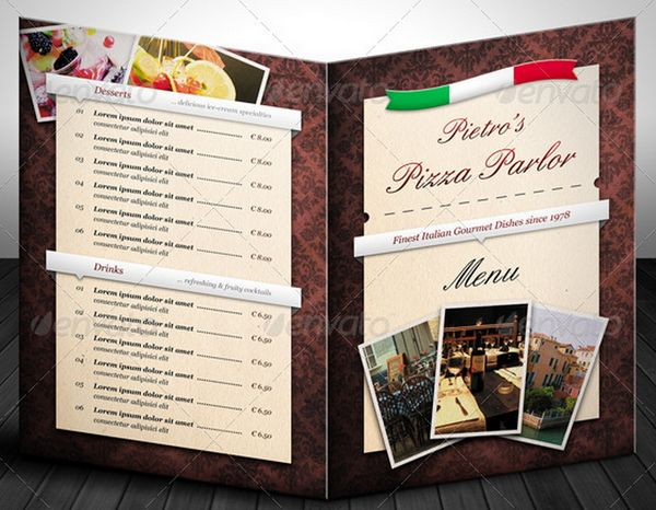30 food menus templates for cafe and restaurants 12