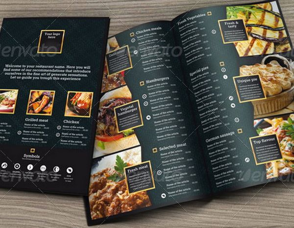 30 food menus templates for cafe and restaurants 14