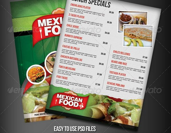 30 food menus templates for cafe and restaurants 16