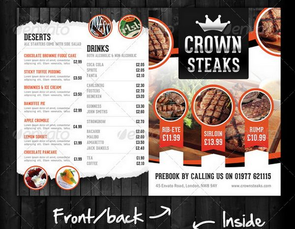 30 food menus templates for cafe and restaurants 18