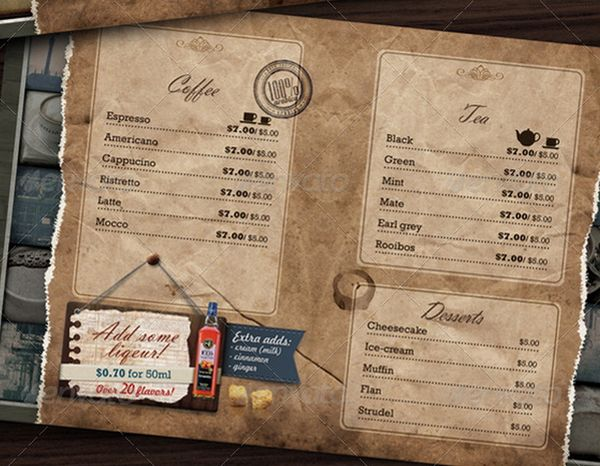 30 food menus templates for cafe and restaurants 21