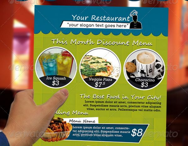 30 food menus templates for cafe and restaurants 22